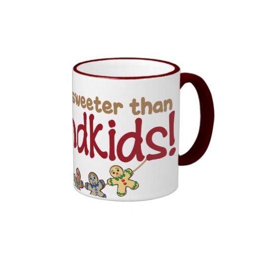 NOTHING IS SWEETER THAN GRANDKIDS! RINGER COFFEE MUG
