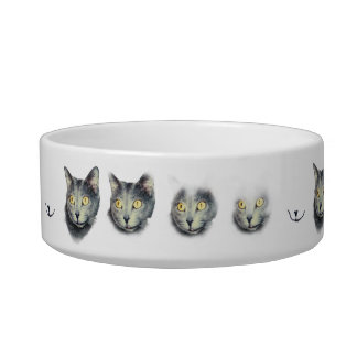 """""""Nothing Left but a Smile!"""" cat food bowl"""