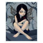 Nothing Left to Dream crying fairy Art Print