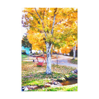 Nothing like a fall swing canvas print