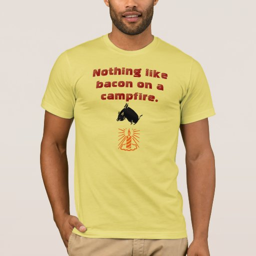 Nothing like bacon on a campfire. T-Shirt