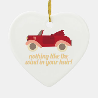 Nothing Like The Wind In Your H Double-Sided Heart Ceramic Christmas Ornament