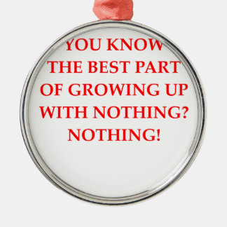 NOTHING METAL ORNAMENT