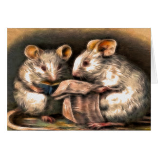 """""""Nothing on TV Tonight"""" Mice Greeting Card"""