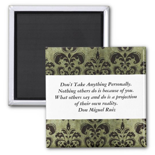 Nothing Personal 2 Inch Square Magnet