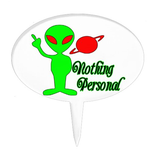 Nothing Personal Space Alien Cake Pick