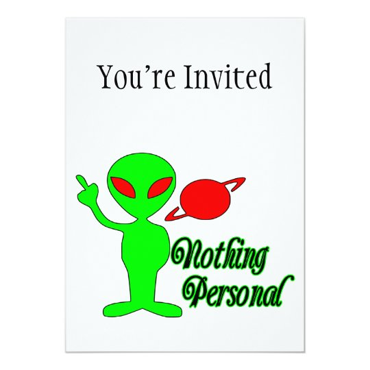 Nothing Personal Space Alien Card