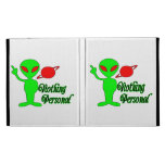 Nothing Personal Space Alien iPad Folio Covers