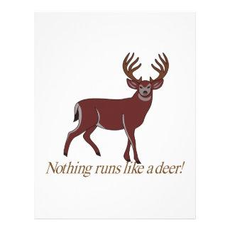 Nothing Runs like a Deer Letterhead