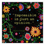 """""""Nothing's Impossible"""" Inspirivity Poster"""