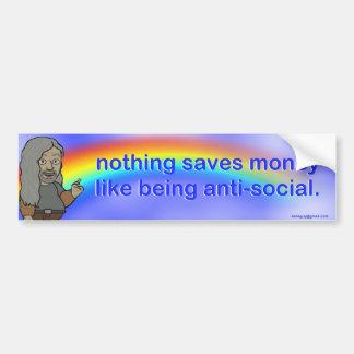 nothing saves money... bumper sticker