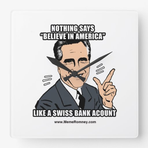 NOTHING SAYS BELIEVE IN AMERICA LIKE A SWISS BANK WALL CLOCK