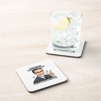 nothing says believe in america like a swiss bank  drink coaster