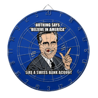 Nothing says believe in America like a Swiss bank Dartboard With Darts
