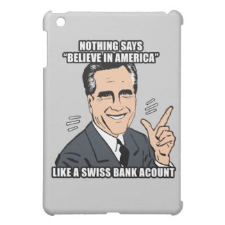 nothing says believe in america like a swiss bank  iPad mini cases