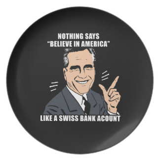 Nothing says believe in America like a Swiss bank Dinner Plates