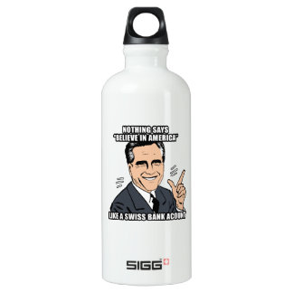 nothing says believe in america like a swiss bank  SIGG traveler 0.6L water bottle