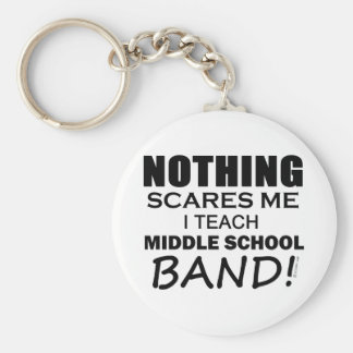Nothing Scares Me Middle School Band Basic Round Button Keychain