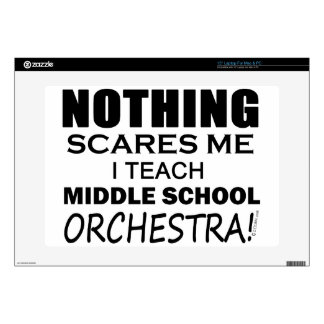 """Nothing Scares Me Middle School Orchestra Decal For 15"""" Laptop"""