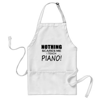 Nothing Scares Me Piano Adult Apron