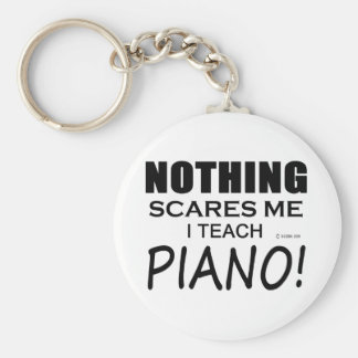 Nothing Scares Me Piano Basic Round Button Keychain