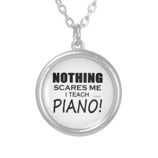 Nothing Scares Me Piano Personalized Necklace