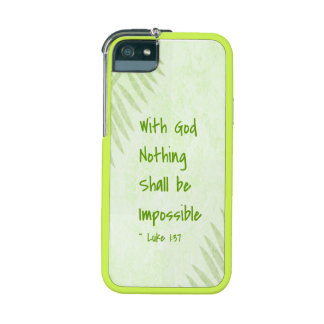 Nothing Shall Be Impossible Palm Case For iPhone SE/5/5s