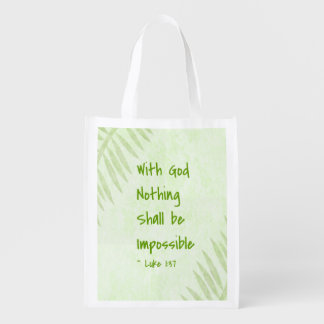 Nothing Shall Be Impossible Palm Grocery Bag