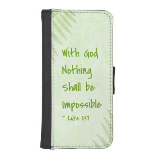 Nothing Shall Be Impossible Palm iPhone SE/5/5s Wallet