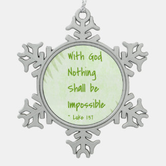 Nothing Shall Be Impossible Palm Ornament