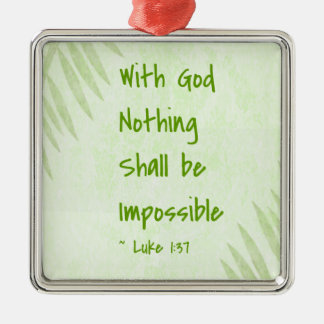 Nothing Shall Be Impossible Palm Ornaments