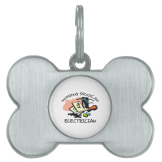 NOTHING SHOCKS ELECTRICIAN PET ID TAGS