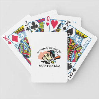 NOTHING SHOCKS ELECTRICIAN BICYCLE PLAYING CARDS