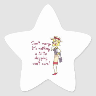 NOTHING SHOPPING WONT CURE STAR STICKERS