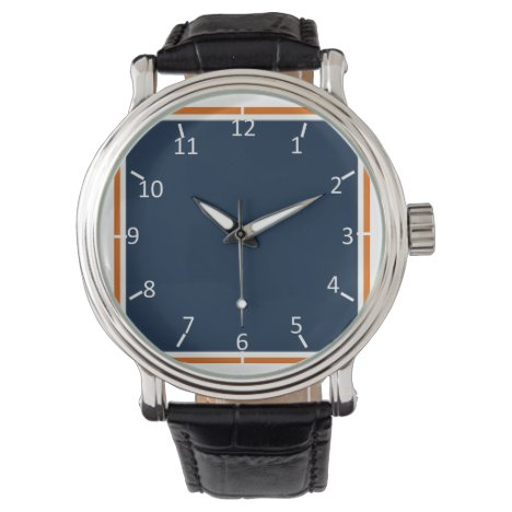 Nothing Shy about Blue and Orange Wristwatch