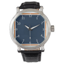 Nothing Shy about Blue and Orange Wristwatches