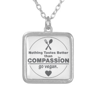 Nothing Tastes Better Than Compassion Go Vegan Jewelry