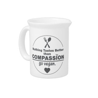 Nothing Tastes Better Than Compassion Go Vegan Beverage Pitcher