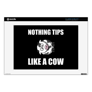Nothing Tips Like Cow Laptop Skin