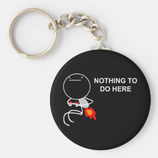 Nothing To Do Here - Black Keychain