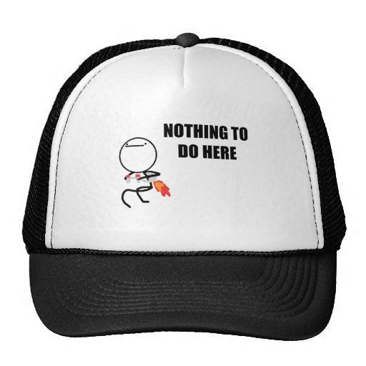 Nothing To Do Here Rage Face Meme Hat