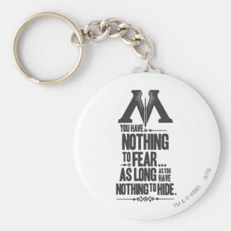 Nothing to Fear - Nothing to Hide Basic Round Button Keychain