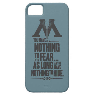 Nothing to Fear - Nothing to Hide iPhone SE/5/5s Case