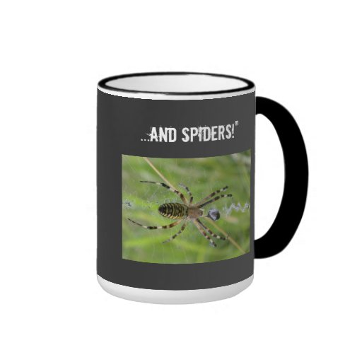 Nothing to fear Spiders Ringer Coffee Mug
