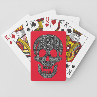 Nothing to gain/lose, not this/that, in between playing cards
