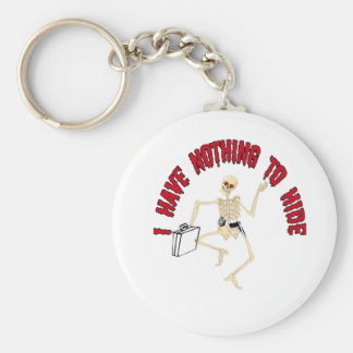 NOTHING TO HIDE BASIC ROUND BUTTON KEYCHAIN