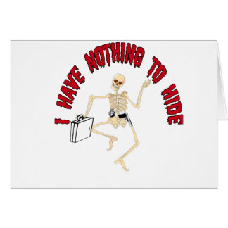 NOTHING TO HIDE CARD
