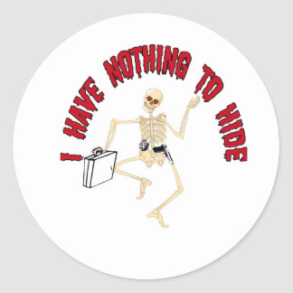 NOTHING TO HIDE CLASSIC ROUND STICKER