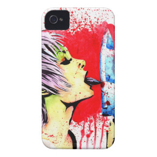 Nothing to Lose Horror Pop Art Portrait iPhone 4 Case