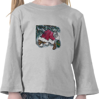 Nothing to See Here say Kitten in Santa Hat T-shirts